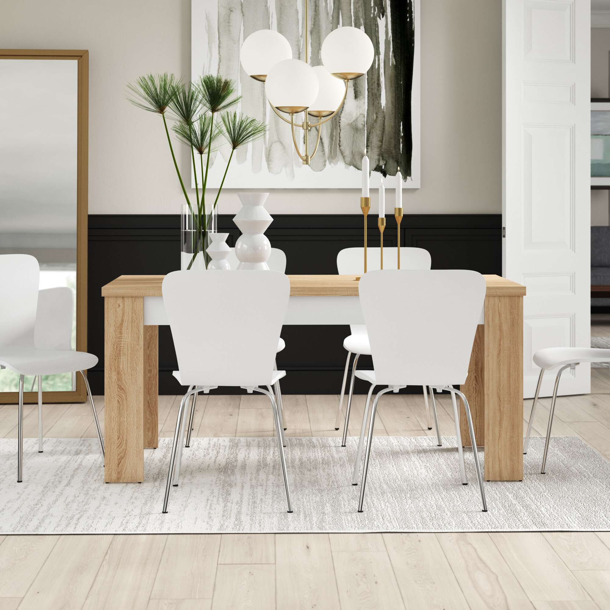 Mercury Row Algedi 7 Piece Dining Set & Reviews   Wayfair