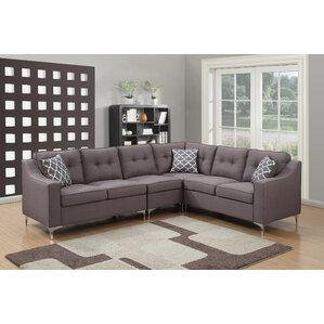 sc 1 st  Wayfair : leather tufted sectional - Sectionals, Sofas & Couches