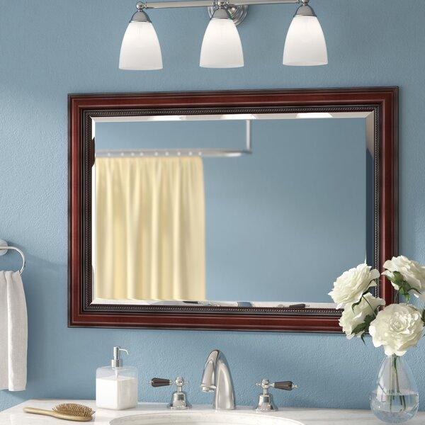 Three Posts Mitchem Traditional Cherry Bathroom Vanity Wall Mirror Reviews Wayfair