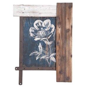 Etched Flower Framed Wall Du00e9cor
