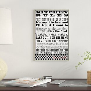 kitchen rules textual art wall plaque - Kitchen Wall Art
