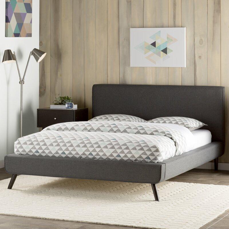 delve upholstered platform bed