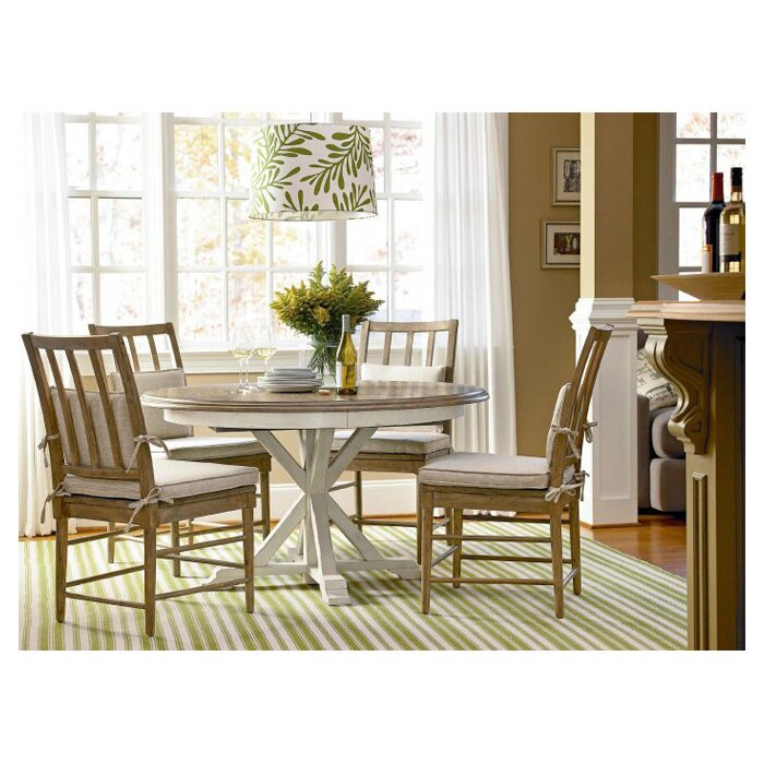 Round Dining Table birch lane™ grafton extending round dining table & reviews | wayfair