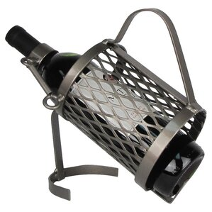 Industrial Evolution Spring Loaded 1 Bottle Tabletop Wine Rack by Metrotex Designs