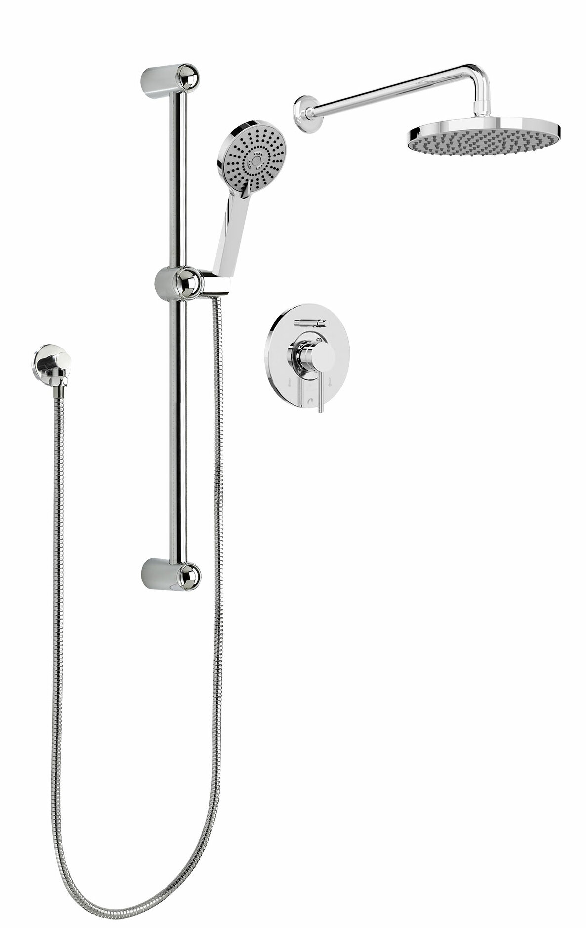front rain mounted dual wall extended head ideas heads modern delta arm back appealing shower and system
