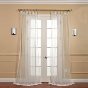 Emie Solid Sheer Rod pocket Curtain Panels (Set of 2)