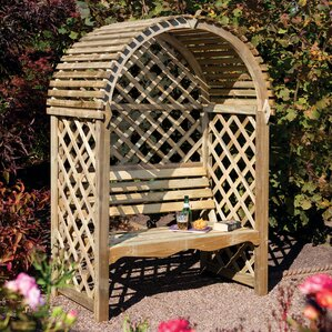 Victoria Timber Wood Arbor With Bench