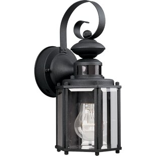 Outdoor motion sensor lantern wayfair shantel motion sensor 1 light outdoor wall lantern aloadofball Choice Image