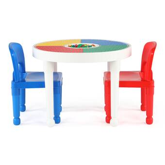 Groovy Tot Tutors Playtime Kids 5 Piece Activity Table And Chair Interior Design Ideas Gresisoteloinfo