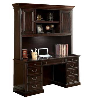 Admirable Darby Home Co Lou Solid Wood Executive Desk Reviews Wayfair Download Free Architecture Designs Scobabritishbridgeorg