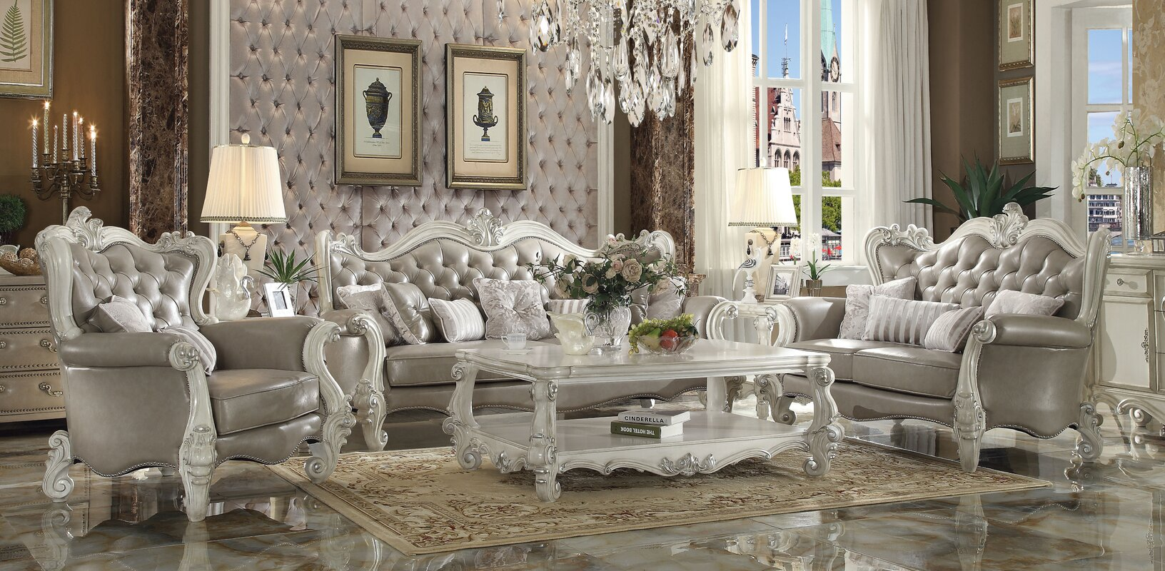 ACME Furniture Versailles Configurable Living Room Set & Reviews ...