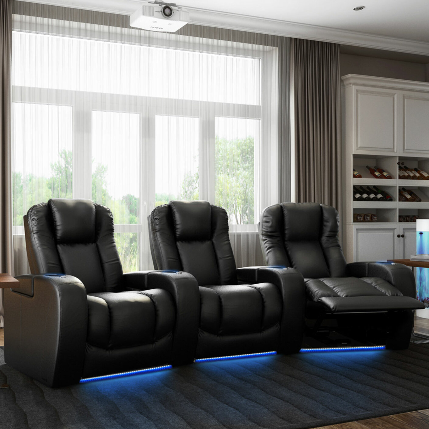 Groovy Grand Hr Series Curved Home Theater Row Seating Row Of 3 Spiritservingveterans Wood Chair Design Ideas Spiritservingveteransorg