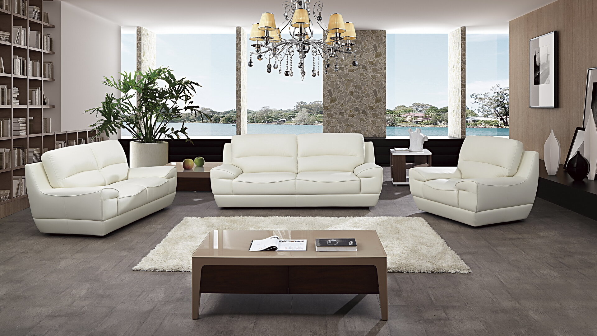 Italian Configurable 3 Piece Living Room Set