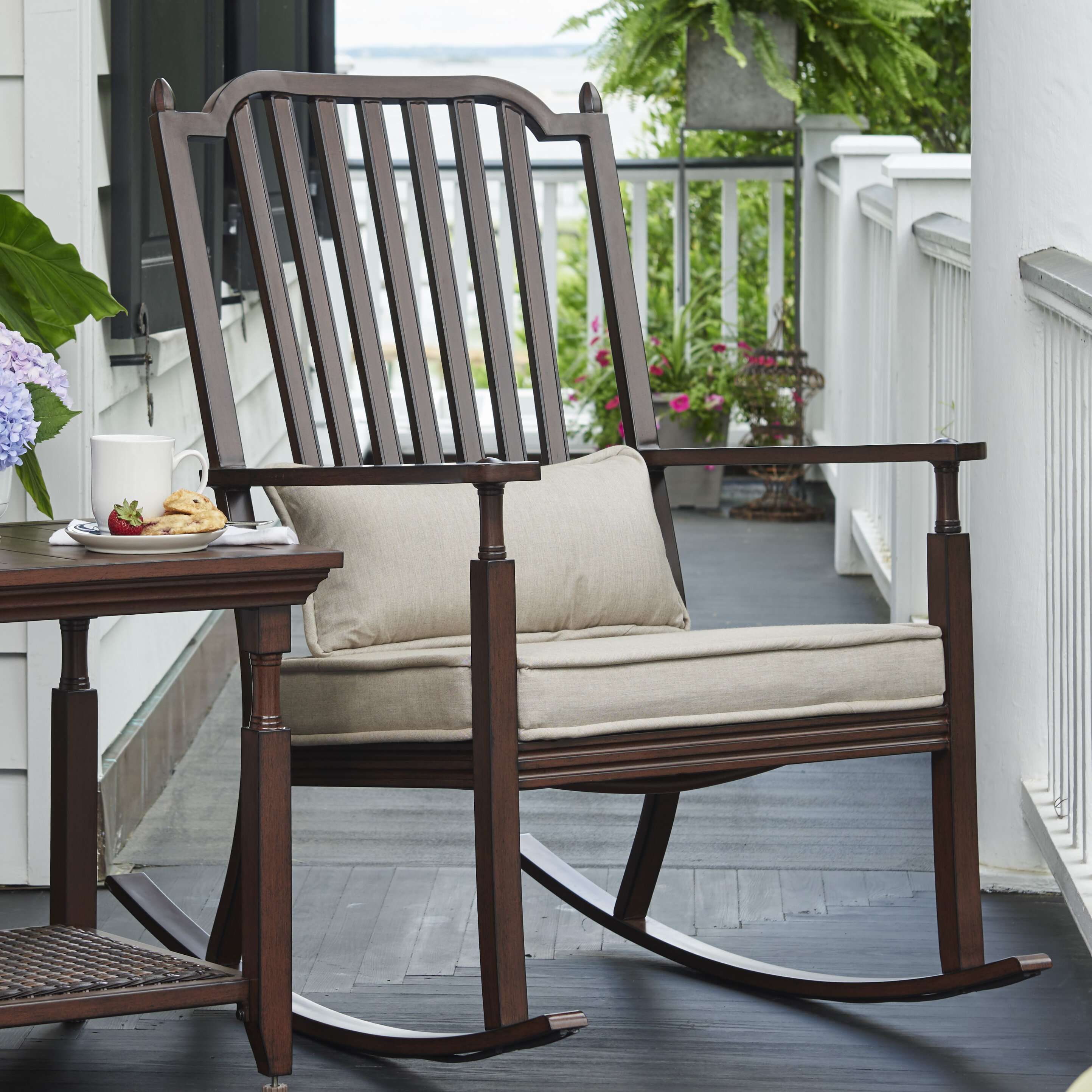 paula deen home river house porch rocking chair with cushions