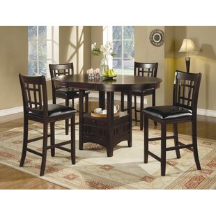 Norwalk Counter Height Extendable Solid Wood Dining Table