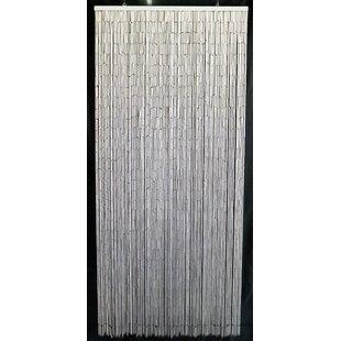 Merced Bamboo Beaded Single Curtain Panel