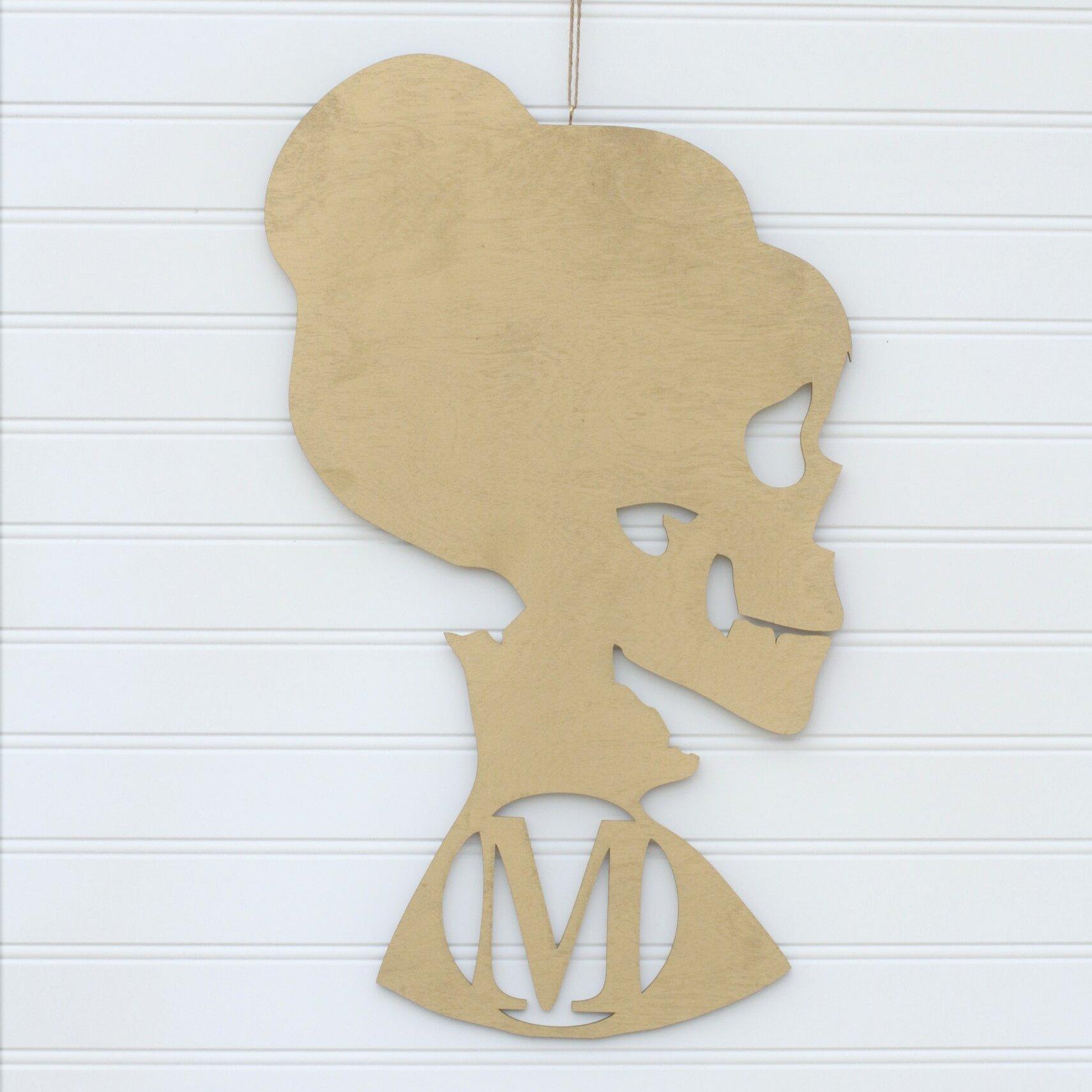 The Holiday Aisle Skeleton Woman Monogrammed Wall Décor   Wayfair