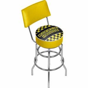 Waffle House Swivel Bar Stool by Trademark Global