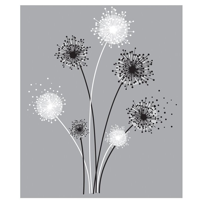 Deco Graphic Dandelion Giant Wall Decal Part 46