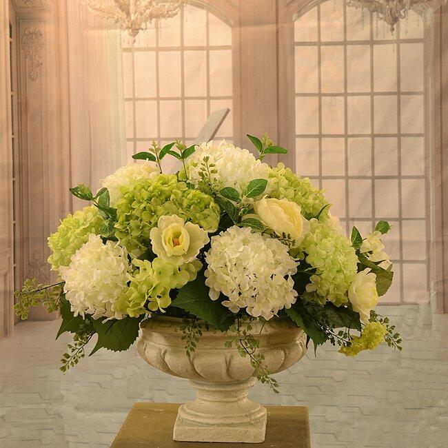 Floral home decor hydrangea large silk flower arrangement reviews hydrangea large silk flower arrangement mightylinksfo