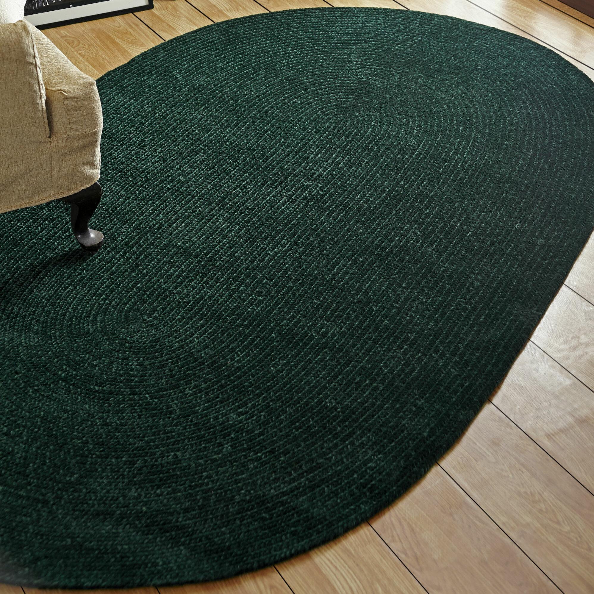 Better Trends Chenille Reversible Dark Green Indoor Outdoor Area Rug Reviews Wayfair