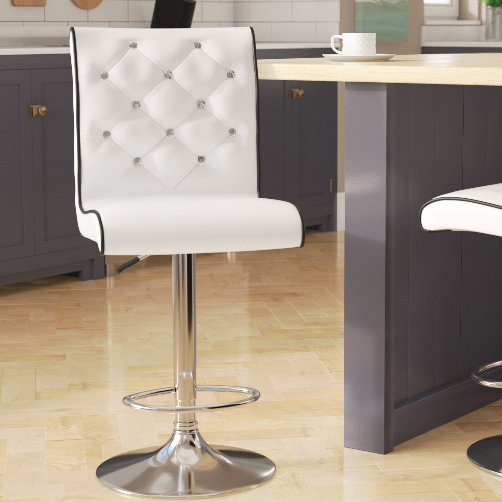 Collections Of Wayfair Givens Adjustable Height Stool