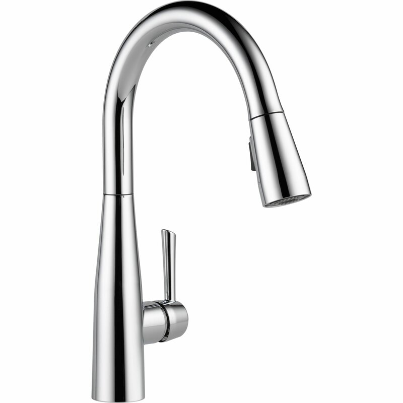Delta Pull Down Kitchen Faucet delta essa single handle pull down standard kitchen faucet
