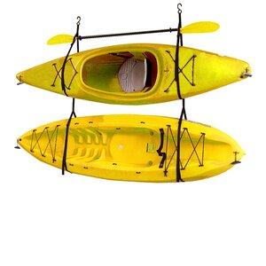Kayak / Canoe Storage and Portage Hang 2 Deluxe Strap Storage System Ceiling/Wall Mounted Kayak Rack