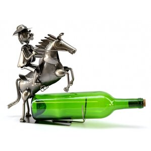 Cowboy on Horse 1 Bottle Tabletop Wine Rack by Three Star Im/Ex Inc.