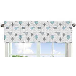 Earth and Sky Bird Print Window Valance