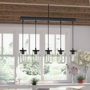 Pendant lighting youll love wayfair vickie 5 light kitchen island pendant aloadofball Gallery