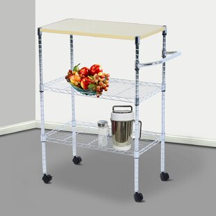 Mccubbin Portable Rolling Wire Shelf Bar Cart