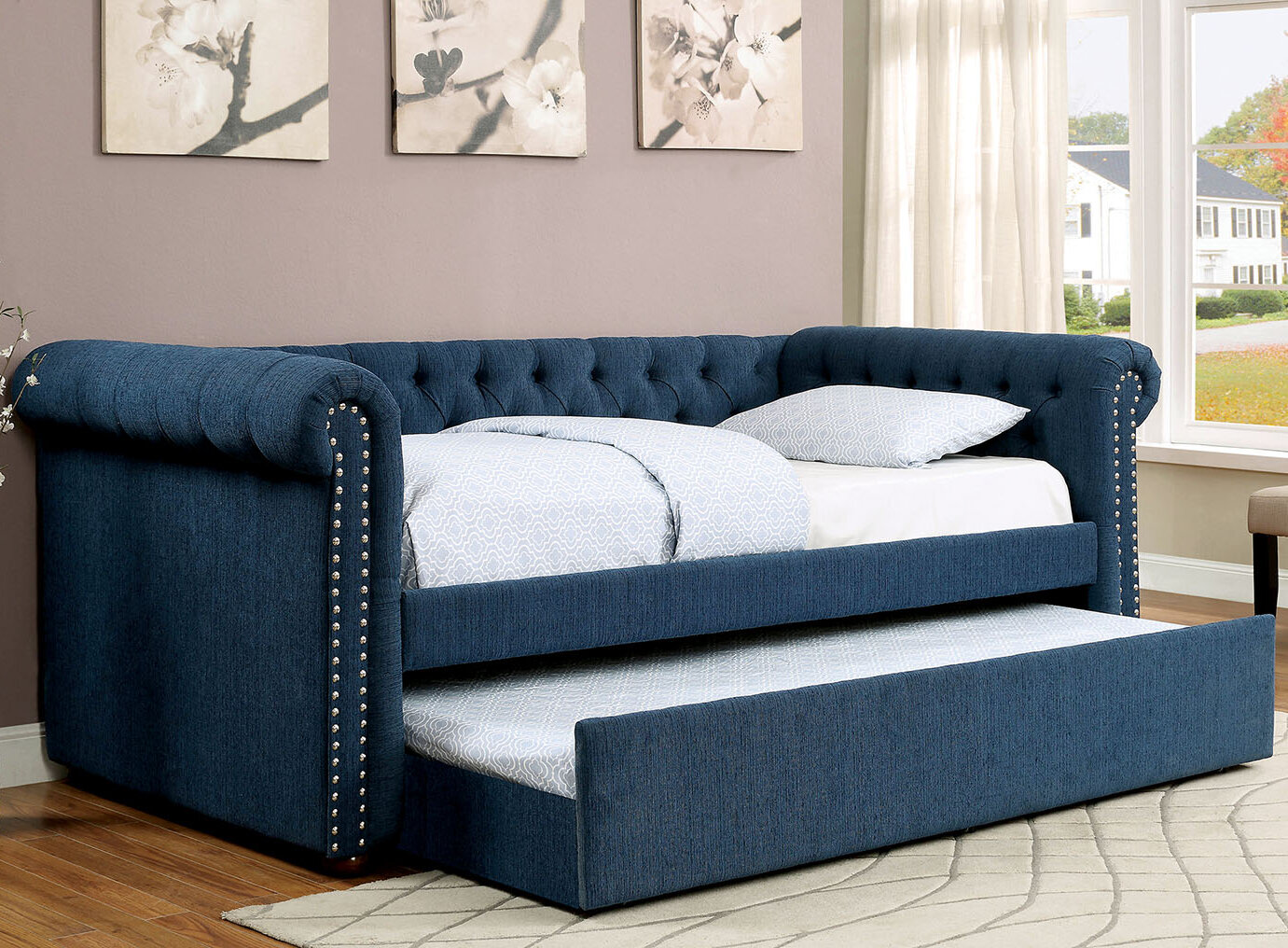 A Amp J Homes Studio Leona Daybed With Trundle Amp Reviews Wayfair