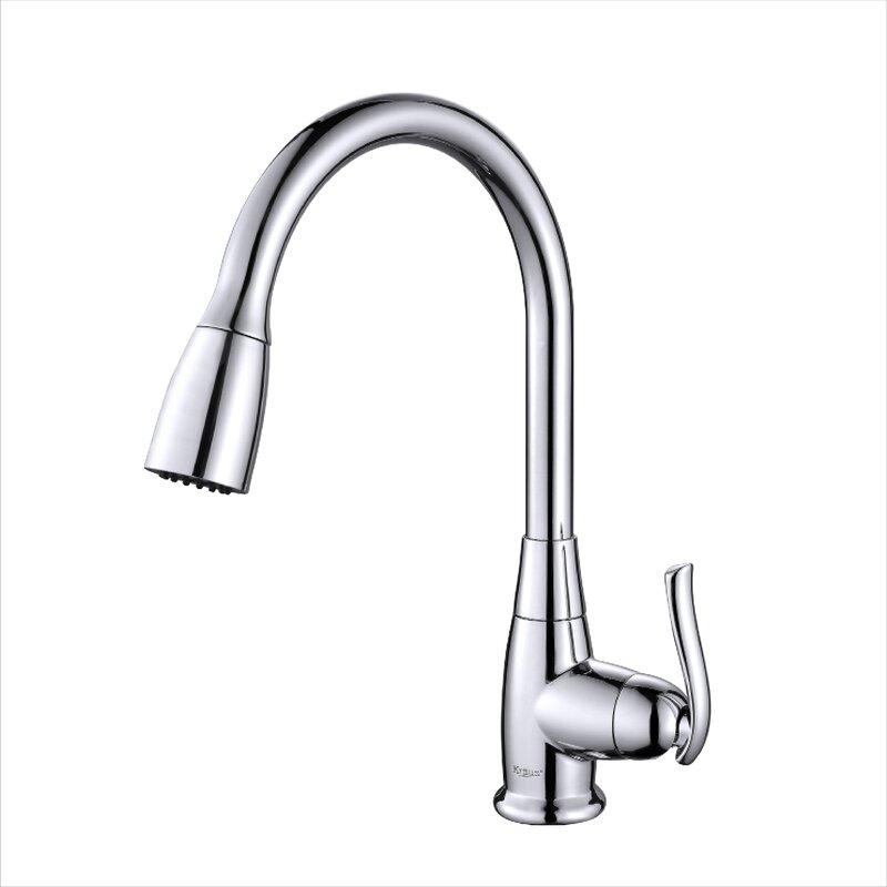 kpf 2230ch sn orb kraus premium faucets pull down single handle rh wayfair com  best premium kitchen faucets