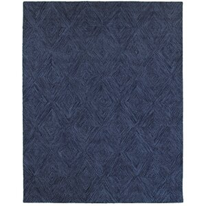 Chantrell Hand-Crafted Blue Area Rug