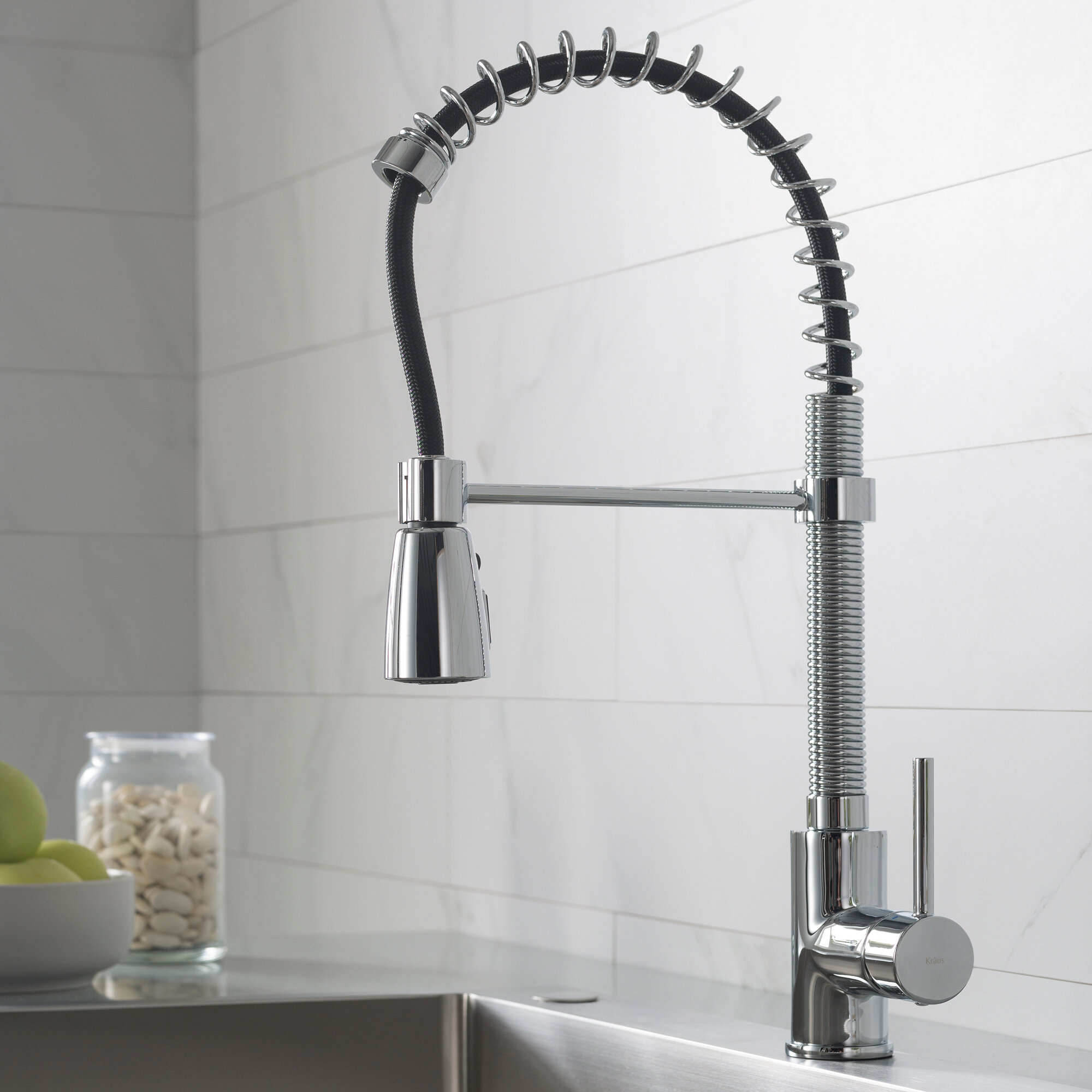 Kitchen Faucets.Pull Down Single Handle Kitchen Faucet