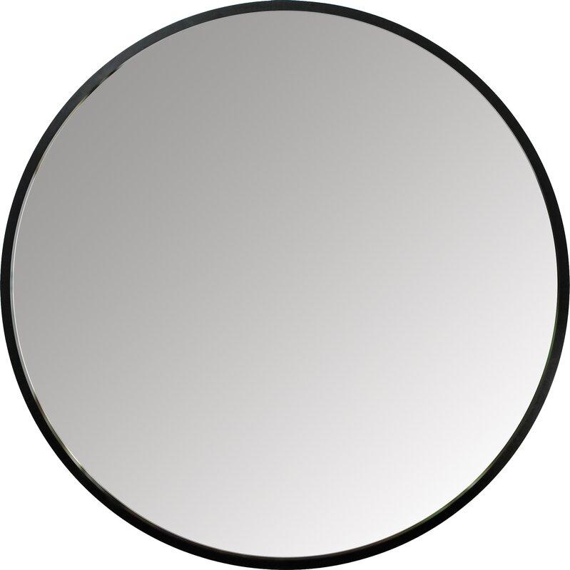 Black Wall Mirrors hub wall mirror & reviews | allmodern