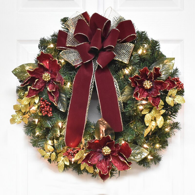 Floral Home Decor Magnolia 24 Quot Christmas Wreath With