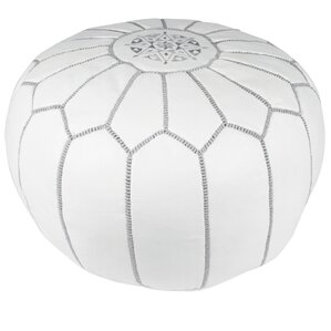 Everly Embroidered Pouf Ottoman by Mistana