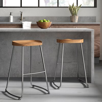 Backless Grey Bar Stools You Ll Love In 2019 Wayfair