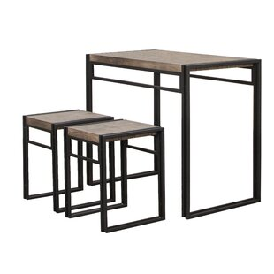 Chitwood 3 Piece Counter Height Dining Set