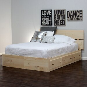 captains storage platform bed