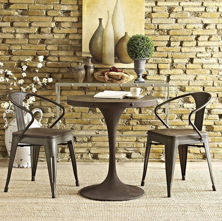 17 Stories Omarion Pedestal Dining Table & Reviews | Wayfair