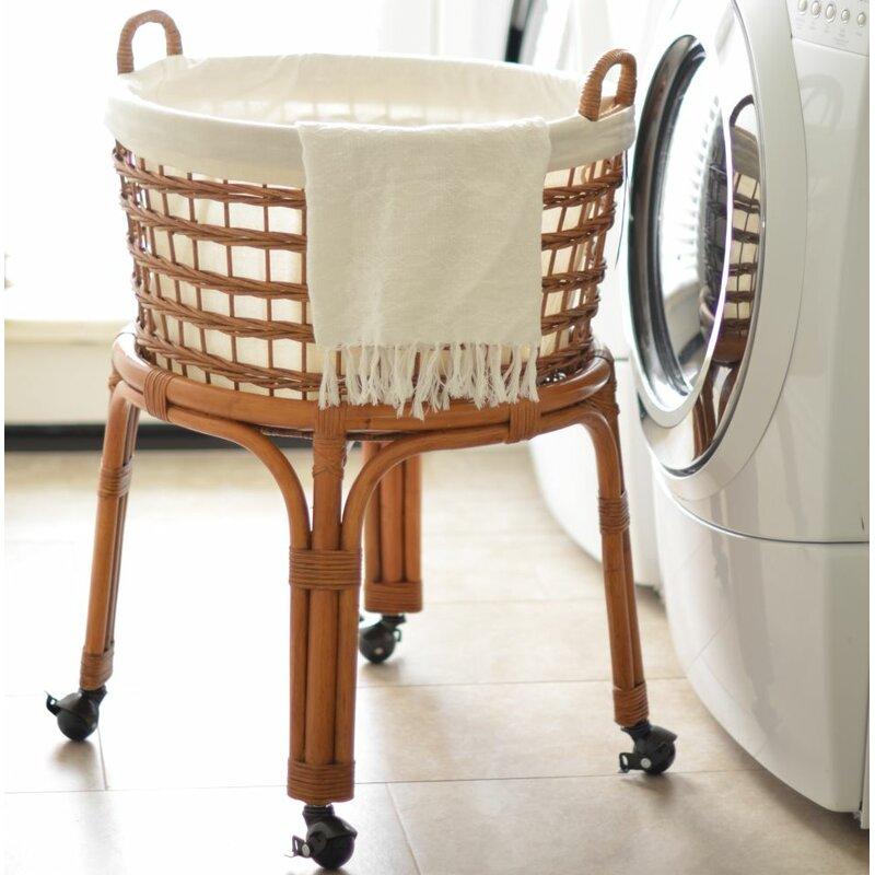 New Kouboo Rolling Wicker Laundry Basket & Reviews | Wayfair TO84