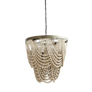 pure metalwood 3light empire chandelier