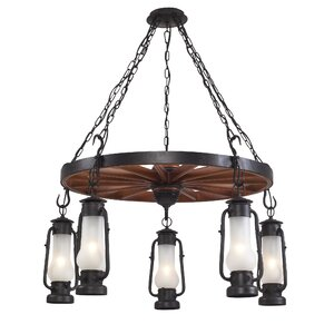 Chapman Stagecoach 5-Light Outdoor Chandelier