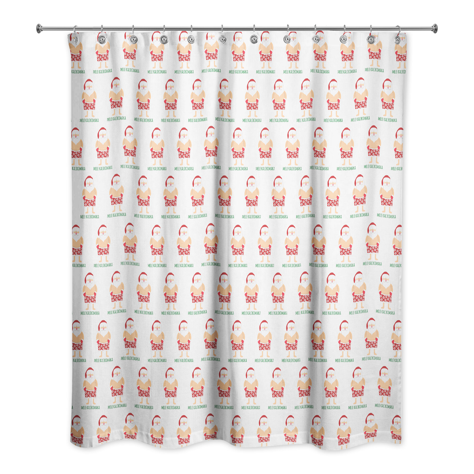 The Holiday Aisle Santa Bathing Suit Shower Curtain