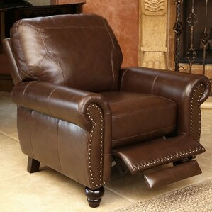 scarsdale top grain leather recliner - Brown Leather Recliner