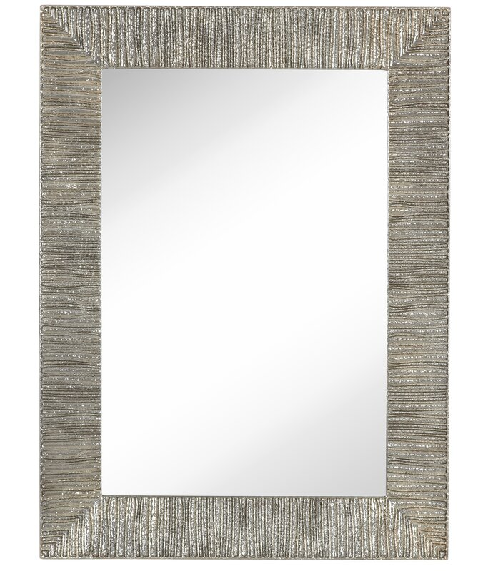 Wayfair Wall Mirrors majestic mirror contemporary shiny rectangular polished pewter