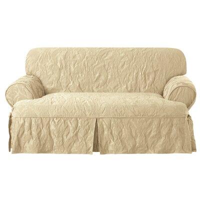 Matelasse Damask T Cushion Loveseat Slipcover
